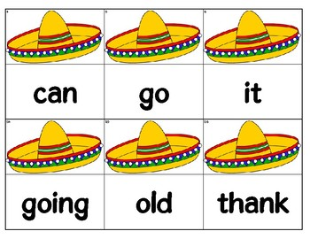 Dolch Words Flashcards (Large) - Sombrero