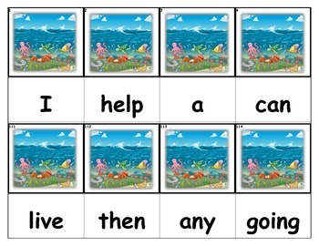 Dolch Words Flashcards - Ocean