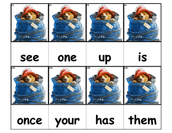 Dolch Words Flashcards - Paddington Bear