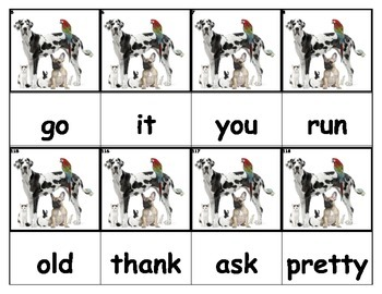 Dolch Words Flashcards - Pets