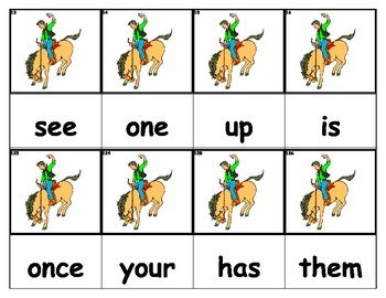 Dolch Words Flashcards - Rodeo