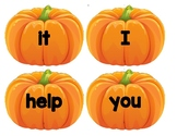 Dolch Words Flashcards Shapes - Pumpkins