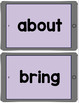 Dolch Word Wall Cards 1/2 Page - iPad (Gray & Lavender)