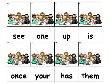 Dolch Words Flashcards - Star Wars Kids