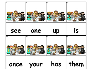 Dolch Words Flashcards - Star Wars Kids