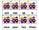 Dolch Words Flashcards - Superhero Kids