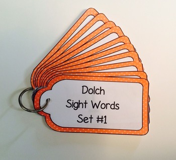 Dolch Words Ringed Cards: Tags