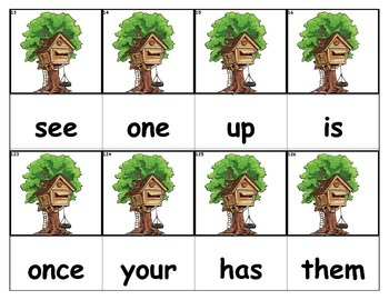 Dolch Words Flashcards - Tree House