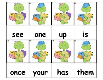 Dolch Words Flashcards - Turtle School Kids