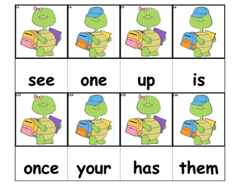 Dolch Words Flashcards - Turtle School Kids