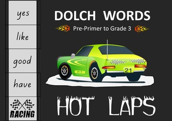 Dolch Words – Fun Activity - Hot Laps Racing Track
