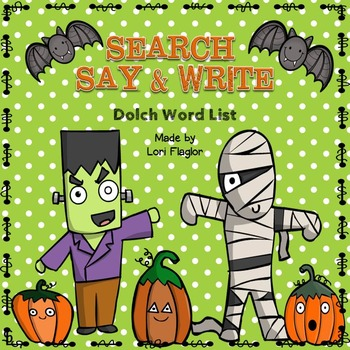 Dolch Words- Halloween Search, Say & Write