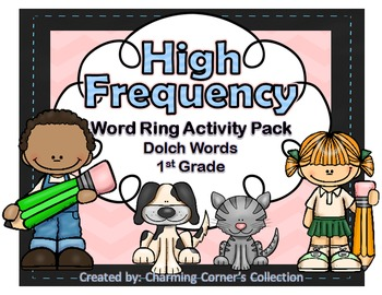 Dolch Words ~ High Frequency Word Rings Set 3