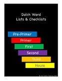Dolch Words Lists & Checklists - Color Coded