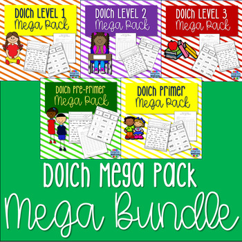 Dolch Words Mega Pack BUNDLE