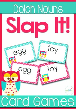 Dolch Words NOUNS Sight Words Slap-It Card Game/Center