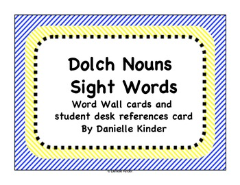Dolch Words Noun Word Wall Cards