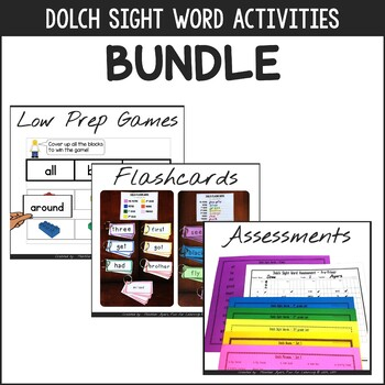 Dolch Sight Word BUNDLE - Flashcards, Games, Assessments