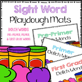 Dolch Words Playdoh Mats (Pre-primer, Primer, and First Grade Words)