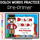Dolch Words -  Pre-Primer - Flash Card Set (Circus Theme)