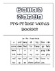 Dolch Words Pre-Primer Words Booklet