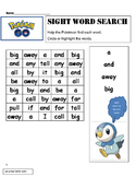 Dolch Words BUNDLE Pre-Primer to Grade 1 -WORD SEARCH -Pok