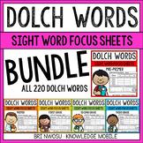Dolch Words - Pre-Primer to Third Grade - BUNDLE