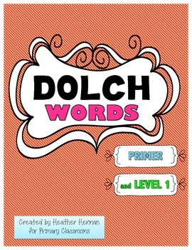 Dolch Words - Primer and Level 1
