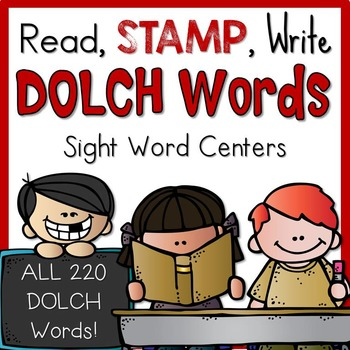 Dolch Words Read, Stamp, Write Pack