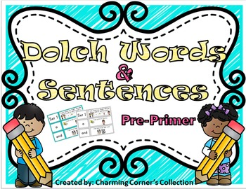 Dolch Words & Sentences ~ Pre-Primer Set