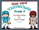 Dolch Words TOUCHDOWN! GAME Grade 3 Sight Words