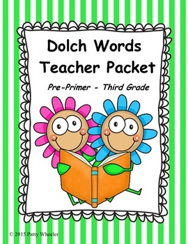 Dolch Words Teacher Packet