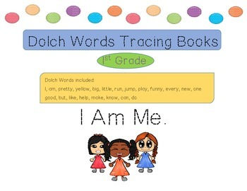 Dolch Words Tracing Books - I Am Me