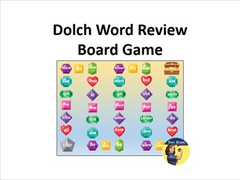 Dolch Words - Treasure Chest Board Game