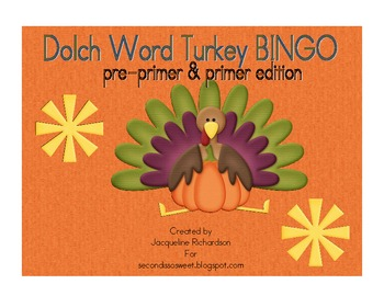 Dolch Words Turkey BINGO
