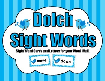 Dolch Words - Word Wall Words and Letters (Boho Birds Decor)