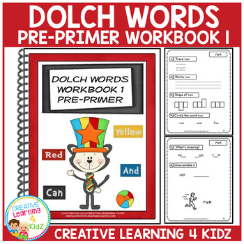 Dolch Words Workbook 1 Pre-Primer