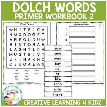 Dolch Words Workbook 2 Primer
