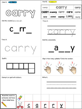 Dolch Words Worksheets: Dirty Dozen - The Ultimate Dolch Workbook all 220 words