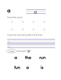 High Frequency Words Tracing, Copying and Identifying