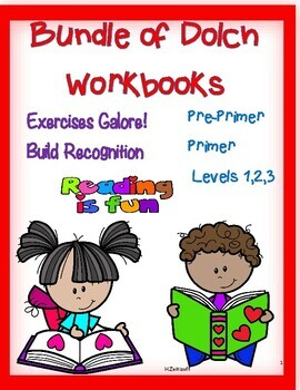 Dolch Workbooks--- All Levels!