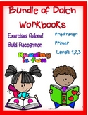 Bundle of Dolch Workbooks--- All Levels!