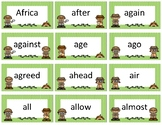 Dolch and Fry Sight Word Flash Cards~ Green Polka Dot Detective