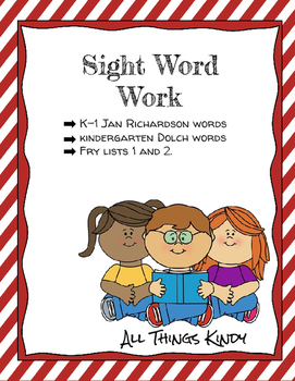 Dolch and Fry Sight Word Work