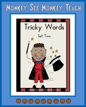 """Dolch and Fry Words """"Tricky Words Set Two"""""""