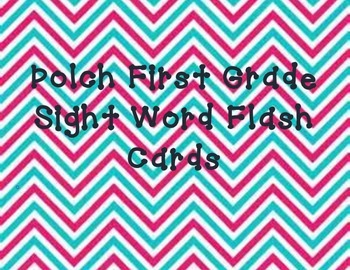Dolch first grade sight word flash cards