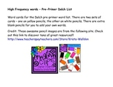 Dolch high frequency words pre-primer