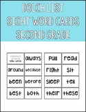 SECOND GRADE SIGHT WORD CARDS