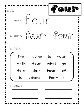 Dolch primer sight word practice sheets!