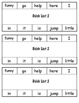 Dolch prek-1st grade sight words
